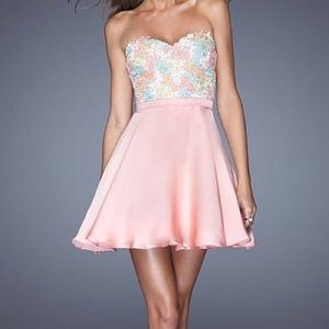 Cotton Candy Pink Lace Fit & Flare Dress